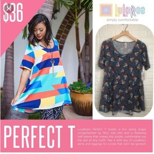 NWT LulaRoe paisley Perfect T